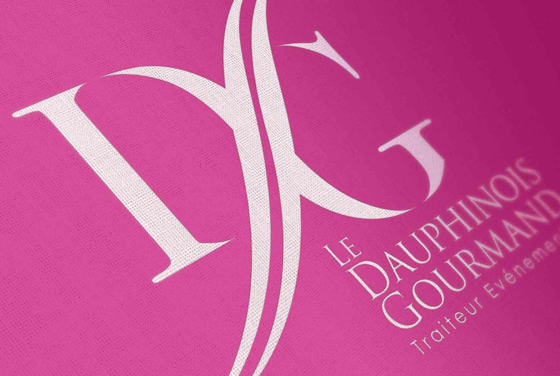 Dauphinois creation logo traiteur graphiste grenoble