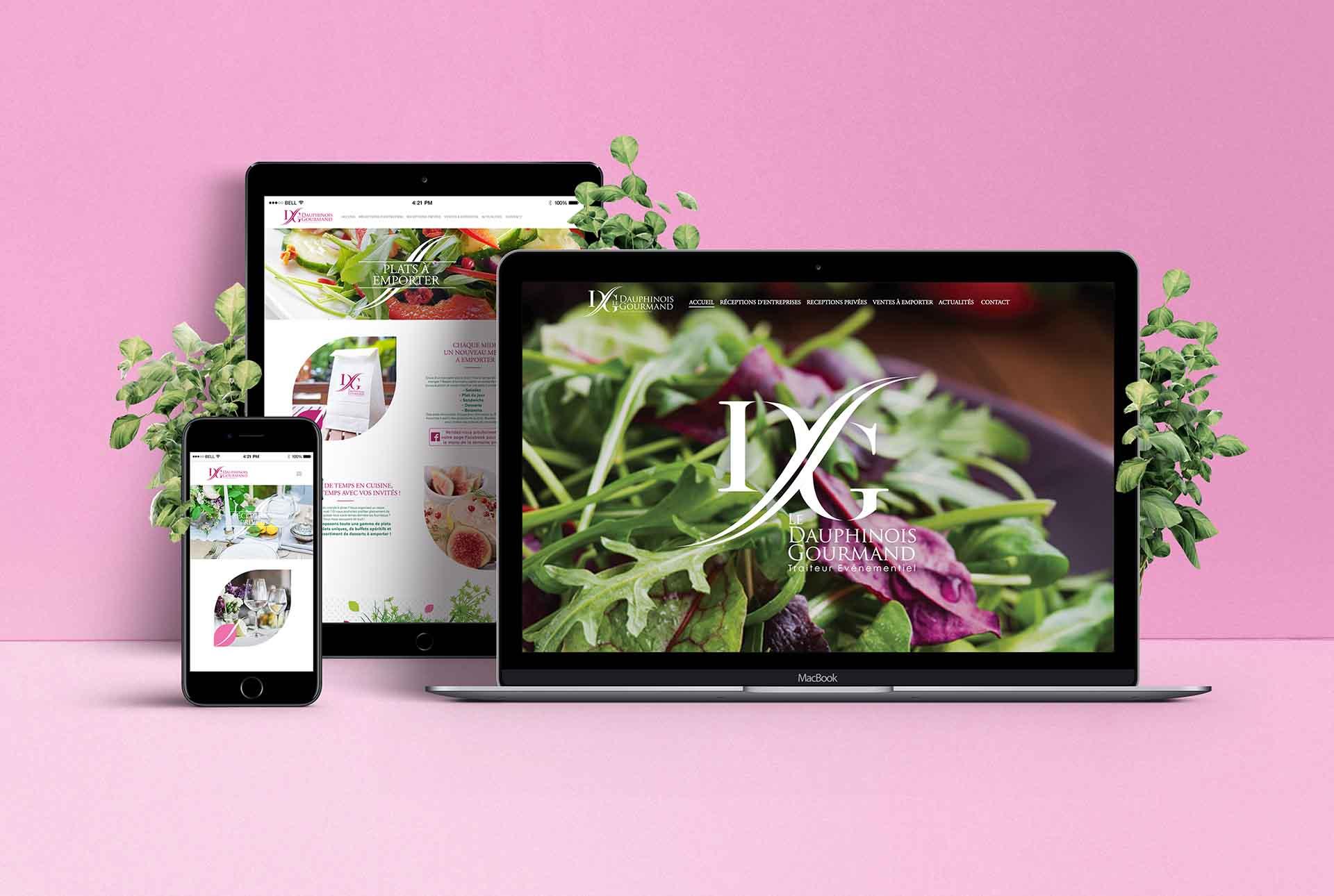 Dauphinois creation site web traiteur grenoble