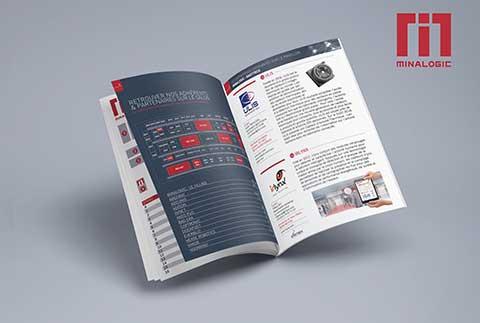 MINALOGIC mise en page brochure graphiste grenoble