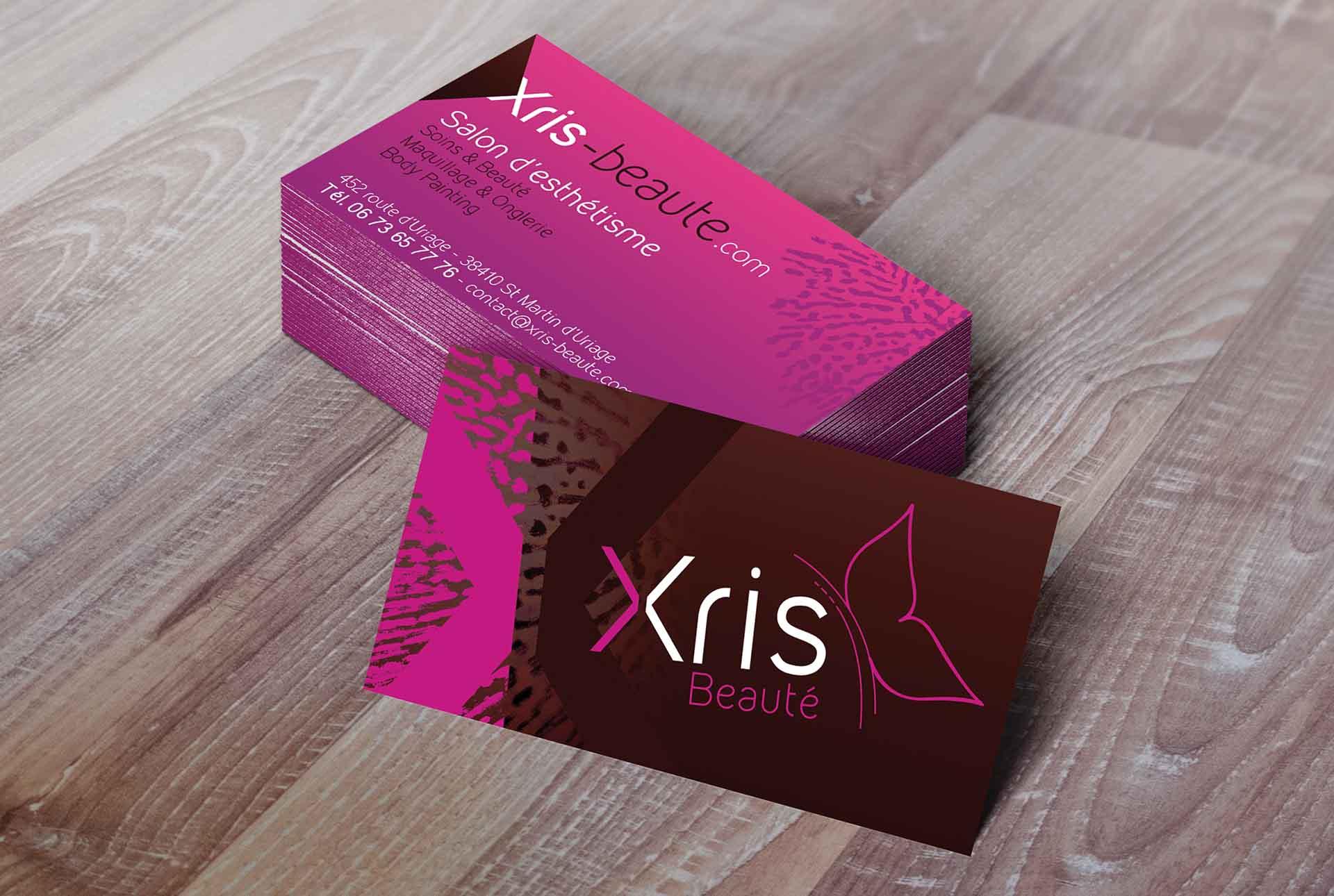 XRIS creation carte beaute graphiste grenoble