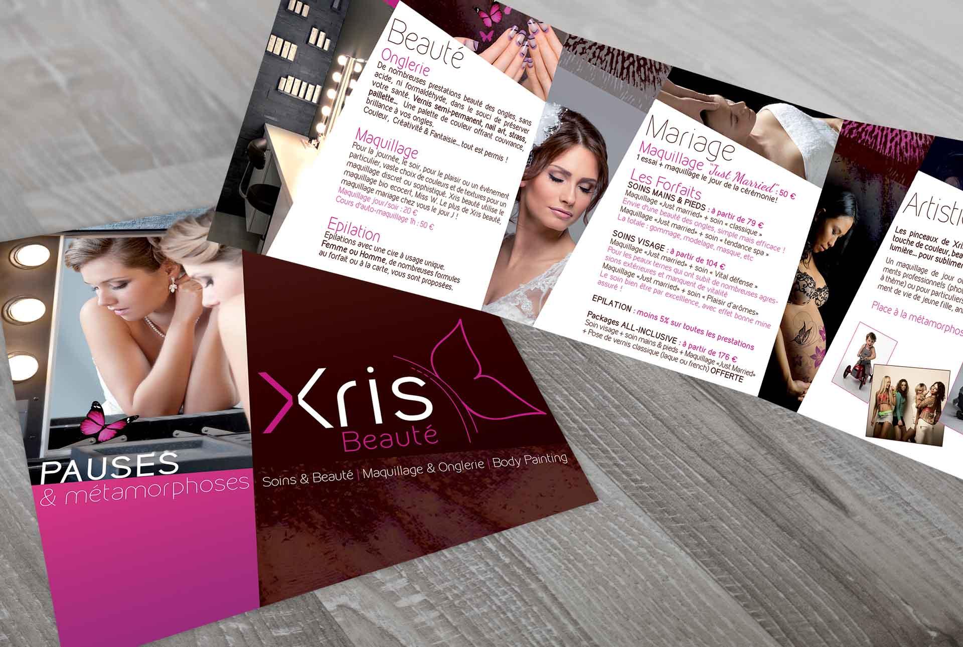 XRIS creation tract estheticienne graphiste grenoble