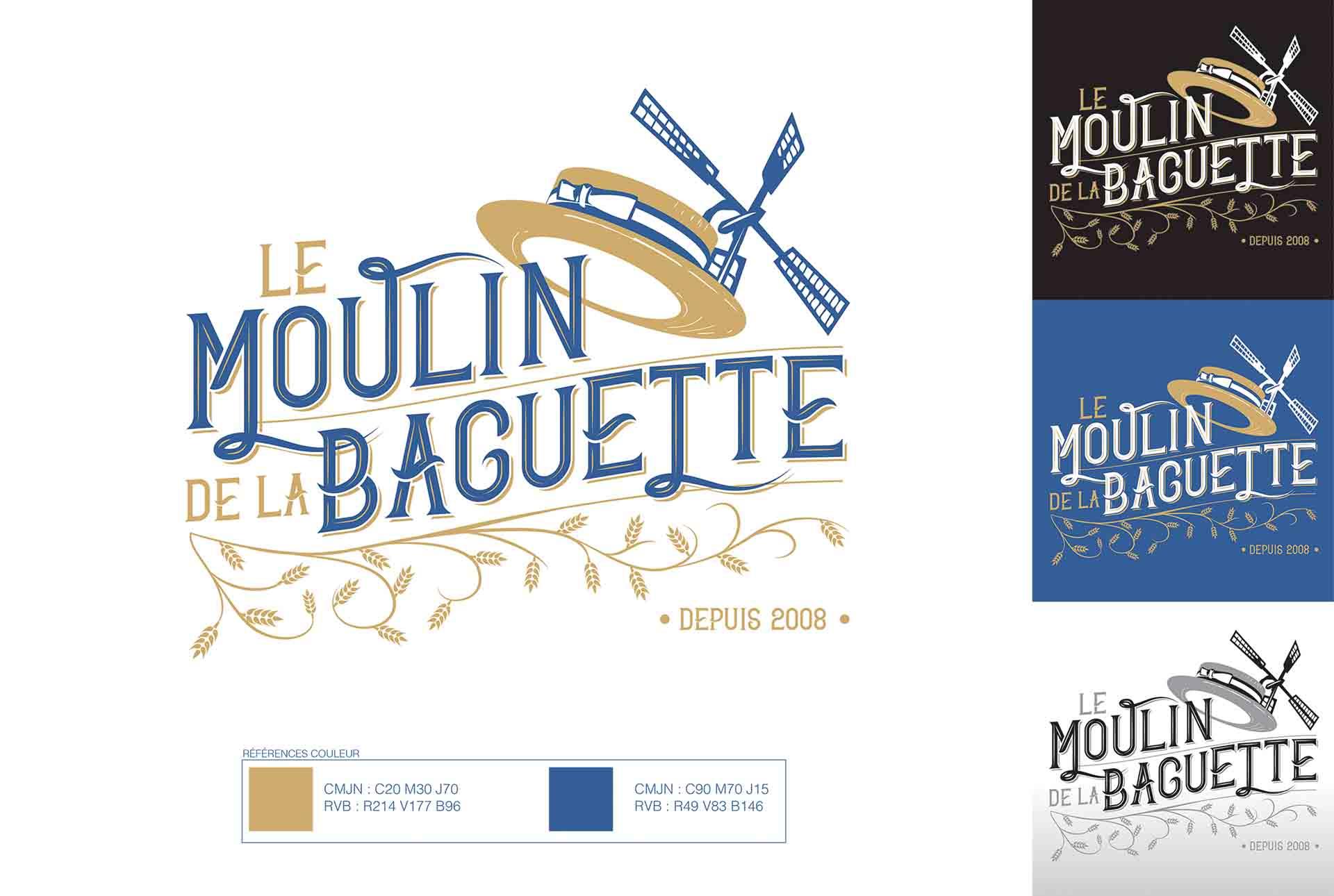 baguette charte graphique logo graphiste grenoble