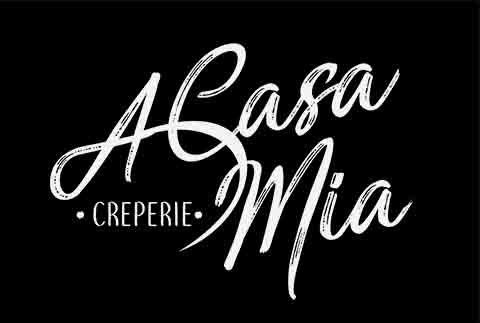 casa mia creation logo restaurant grenoble