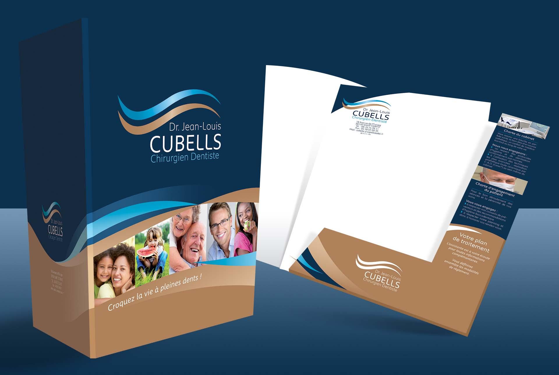 cubells creation pochette medicale graphiste grenoble