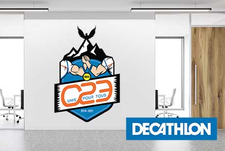 decathlon creation blason graphiste grenoble