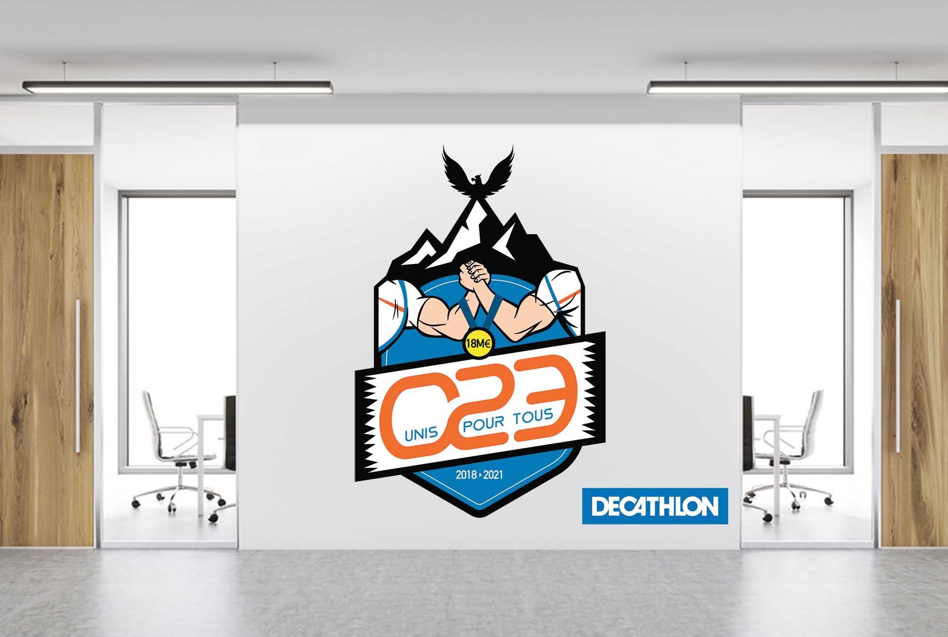 decathlon creation logo graphiste grenoble