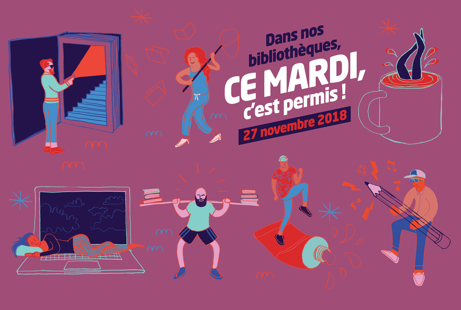 Creation affiche illustrateur grenoble