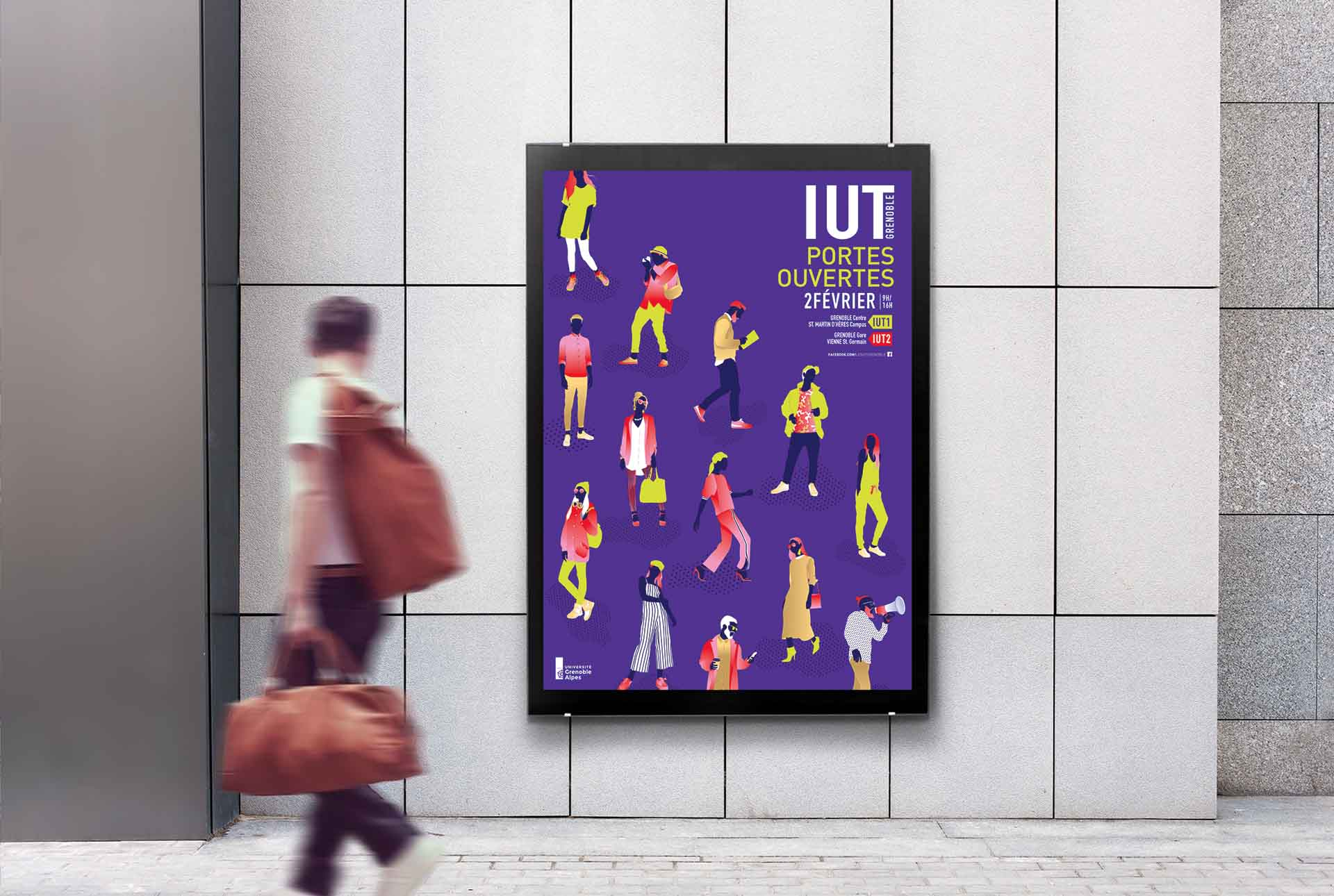 IUT creation affiche evenement graphiste grenoble