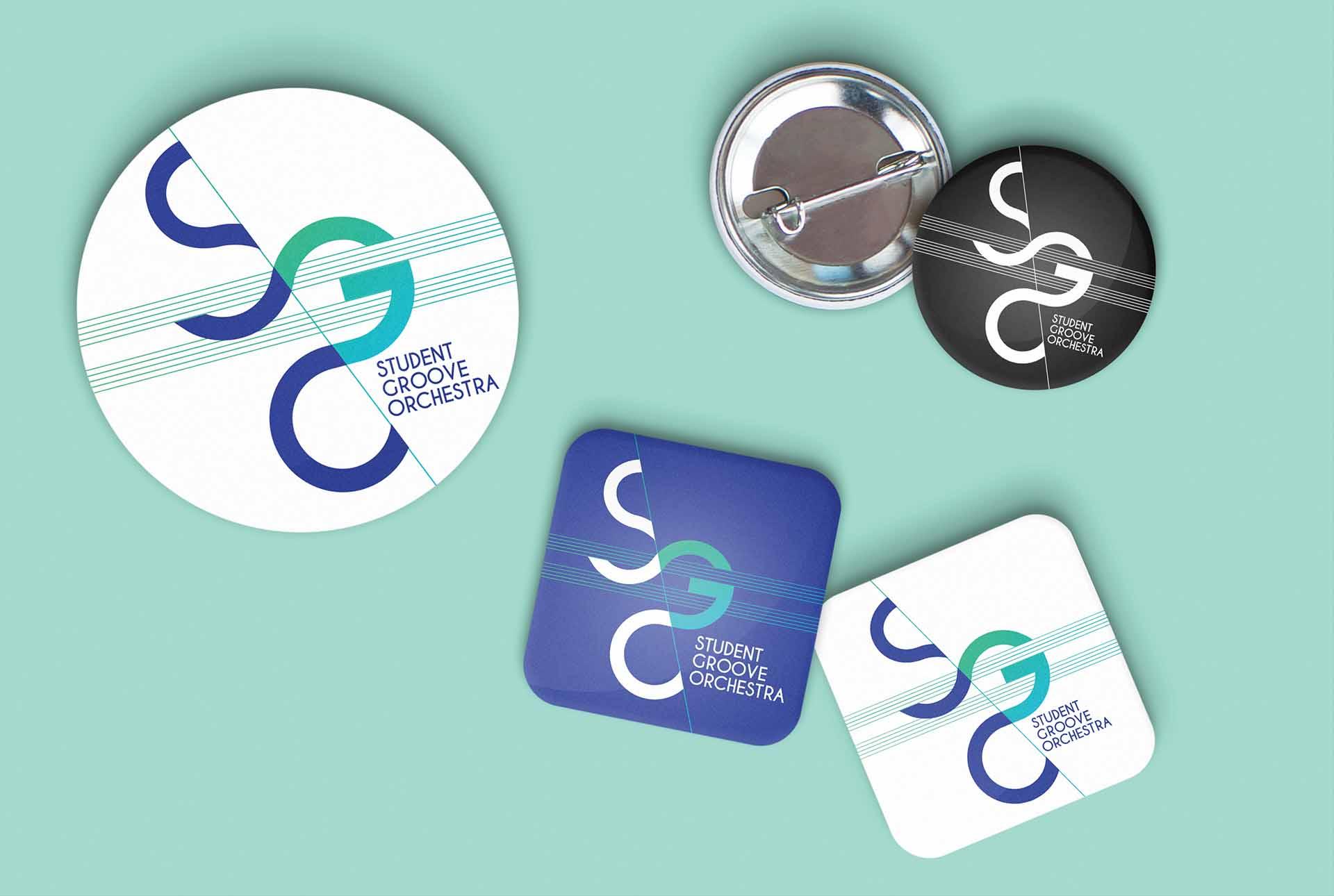 SGO creation badge graphiste grenoble groupe musique