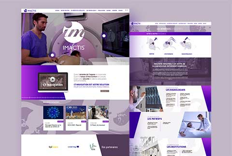 Imactis creation site web medical scientifique graphiste grenoble
